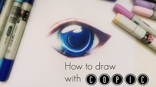 getlinkyoutube.com-TUTORIAL: Simple soft shading effect on Manga Eye || COPIC & Colored Pencil