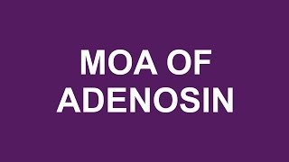 Adenosine - Mechanism of action - MEDBOUYTUBE