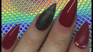 Acrylic Nails   Vamp Mini Stiletto
