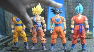 getlinkyoutube.com-S. H. Figuarts SSJ Goku Awakening Ver.  Review