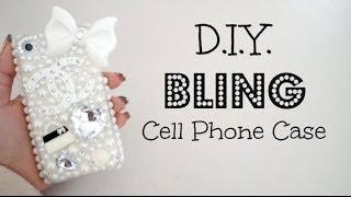 getlinkyoutube.com-DIY Bling 3D Cell Phone Case!