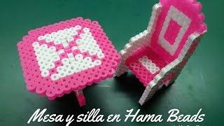 getlinkyoutube.com-Mesa y silla en Hama Beads 3D - Perler Beads - Hama Beads (table and chair)