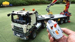 getlinkyoutube.com-LEGO Technic 42043 B model - RC Motorized Mercedes-Benz Arocs 3245 by 뿡대디