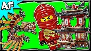 getlinkyoutube.com-Lego Ninjago FIRE TEMPLE 2507 Stop Motion Set Review