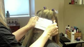 getlinkyoutube.com-Full Head of Blonde Highlights with Foils on Long Hair: Hair Tutorial: Blonde on Light Brown