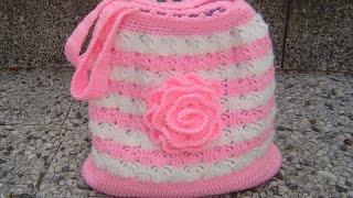 getlinkyoutube.com-Tutorial bolso tejido a crochet paso a paso parte 1/2