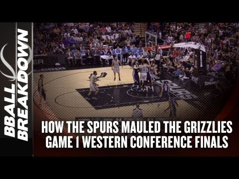 NBA Playoffs 2013: Grizzlies at Spurs Game 1 - Grizzled Vets vs Playoff Noobies
