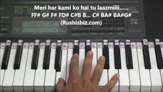 Ae Dil Hai Mushkil (Title song) Piano Tutorials | 917013658813 - PDF NOTES/BOOK - WHATS APP US width=