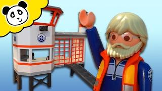 getlinkyoutube.com-PLAYMOBIL POLIZEI 🚨 Küstenwache mit Leuchtturm 🚨 Spielzeug auspacken & spielen - Pandido TV