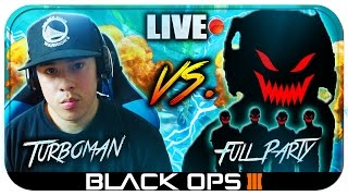 getlinkyoutube.com-Insane 93 KILLS vs FULL PARTY w/ BEST CLASS EVER!! Close INTENSE Match! (Black Ops 3 LIVE Gameplay)