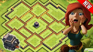 ULTIMATE TOWNHALL 9 FARMING BASE! Clash of Clans - BEST TH9 Farming BASE!