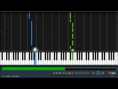 Maroon 5 - Payphone - Easy Piano Tutorial (100%) Synthesia + Sheet Music