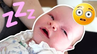 BABY SLEEPS WITH HER EYES OPEN!!👶 **caught on camera**
