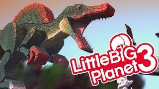 getlinkyoutube.com-LBP3 - Jurassic Park Spinosaurus T-Rex & Mini Indominus Rex in Dinosaur City! Dinosaurs Strike Back