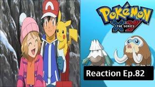 getlinkyoutube.com-Pokemon XY Anime Reaction Ep.82 - Crossing the Snow Mountains! Mamoswine and Snover!!