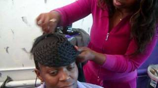 getlinkyoutube.com-Old School Basket Weave Braid Style