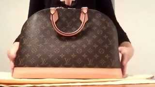 getlinkyoutube.com-Authentic Louis Vuitton alma Gm . What fits inside my bag