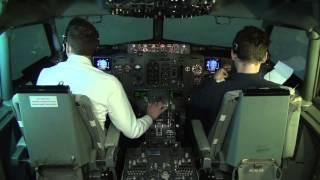 Flying Boeing 737-CL: full flight cockpit video (Part 2) - Baltic Aviation Academy