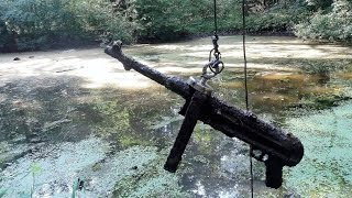 getlinkyoutube.com-Magnet fishing WW2. Finding submachine gun MP40.