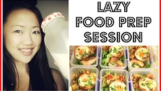 LAZY FOOD PREP SESSION | 6 MEALS IN 1 HOUR | FAST EASY FUN MEAL PREPPING