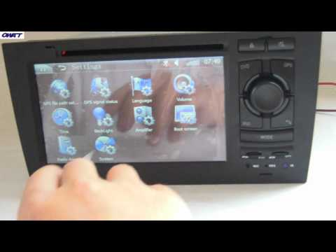 Audi A6 GPS DVD-плеер с Bluetooth, FM / AM, рулевое колесо