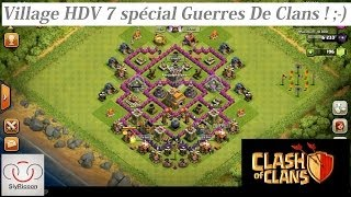 getlinkyoutube.com-[Clash Of Clans] Village HDV 7 spécial Guerre de Clans