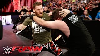 getlinkyoutube.com-Neville vs. Kevin Owens: Raw, March 7, 2016
