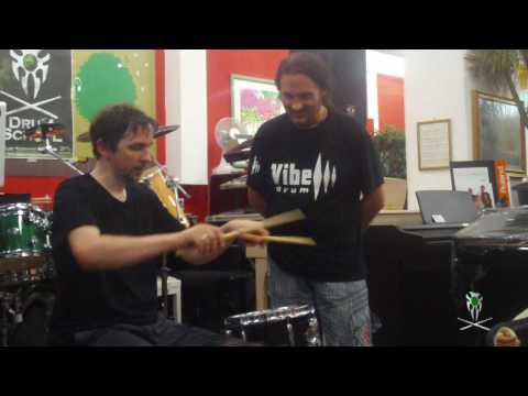 marco minnemann - drum clinic -  finger control and moeller @ gm drum school