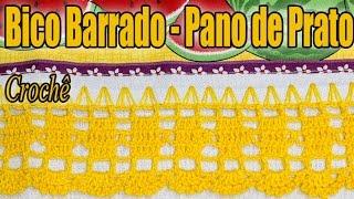 getlinkyoutube.com-Bico de crochê pano de Prato em crochê - Professora Simone