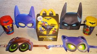 getlinkyoutube.com-2017 The Lego Batman Movie 4 Masks & 8 Toys Full Set in Happy Meal McDonalds Europe