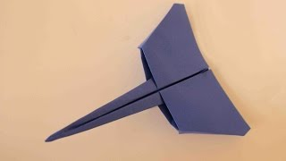 getlinkyoutube.com-How to make a cool paper plane origami: instruction| Star-fighter