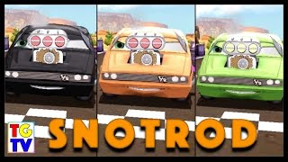 getlinkyoutube.com-Snotrod vs Chick Hicks, Francesco, Lightning McQueen | Cars Fast as Lightning