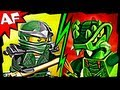 GREEN NINJA vs LIZARU 9574 9557 Lego Ninjago Spinjitzu Battle & Animated Review