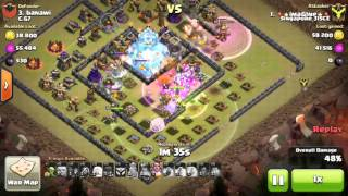 [TH11] 4 Lightning 2 Quake destroys 4 Mortars - 3 Stars Mass Witch Strategy!