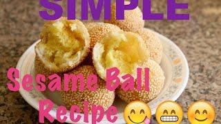 getlinkyoutube.com-Sesame Rice Balls Recipe