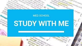 STUDY WITH ME + PLAYLIST // MED SCHOOL #2