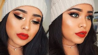 getlinkyoutube.com-HOLIDAY MAKEUP 2016 | Ft. Tarteist Pro Palette & Kylie Cosmetics