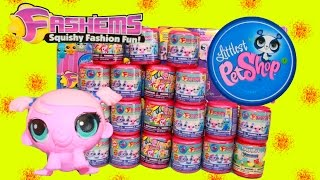 getlinkyoutube.com-Fashems New Collection MLP LPS Mashems Huevos Sorpresa de Plastilina Surprise Toys Littlest Pet Shop