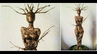 getlinkyoutube.com-Tree Nympth Wire Sculpture / Driada de Alambre ♥