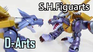 MetalGarurumon(メタルガルルモン)-Old(D-Arts) vs New(SHF)-Original Designer's Edition-Digimon Figures