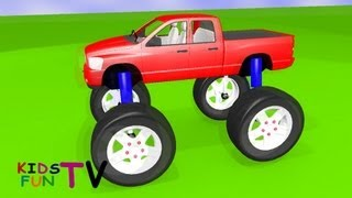 KidsFunTv Monster Truck : 3D HD Animation Video for Kids