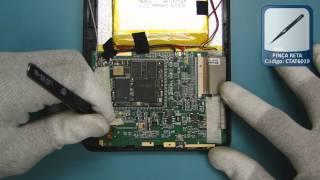 getlinkyoutube.com-Tutorial de Desmontagem Tablet Coby Kyros - TELECELULA