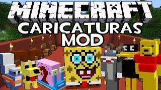 getlinkyoutube.com-Minecraft: CARICATURAS MOD - Bob Esponja, Looney Tunes, Transformers, Tortugas Ninja y Más!