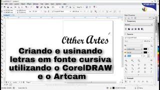 getlinkyoutube.com-Tutoria 1: Criando e usinando letras em fonte cursiva utilizando o CorelDRAW e o Artcam