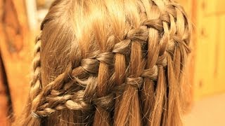 getlinkyoutube.com-ダブルウォーターフォール Double Waterfall Braid