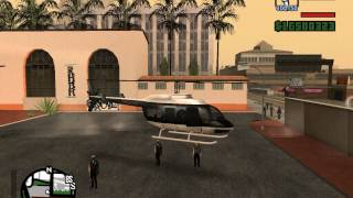 getlinkyoutube.com-Gta San Andreas полицейский вертолет - police moverick
