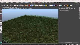 getlinkyoutube.com-Ten Minutes in Maya 01: Grass - Maya 2014