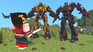 Minecraft Mod: ESCADONA - TRANSFORMERS SOU UM JATINHO ‹ AM3NIC ›