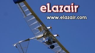 getlinkyoutube.com-Electric powered ultralight aircraft, eLazair twin engine battery powered ultralight aircraft.