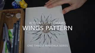 getlinkyoutube.com-Drawing One Tangle Mandala - Wings